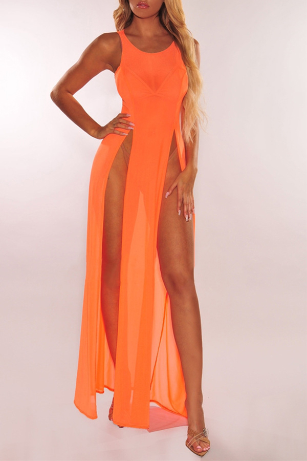 Lovely Sexy Side Split Croci Cover-up(Without Lini