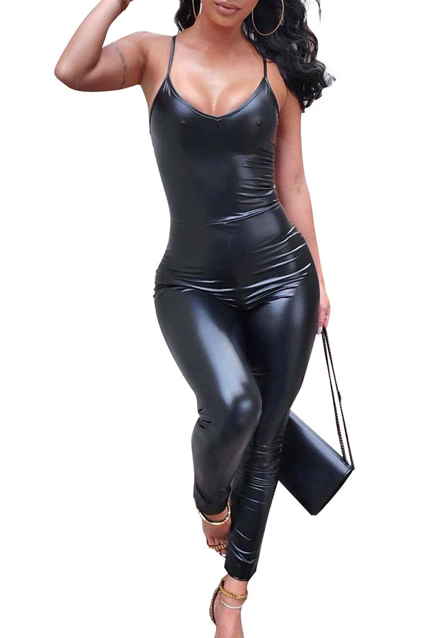 Lovely Chic Skinny Black One-piece Jumpsuit