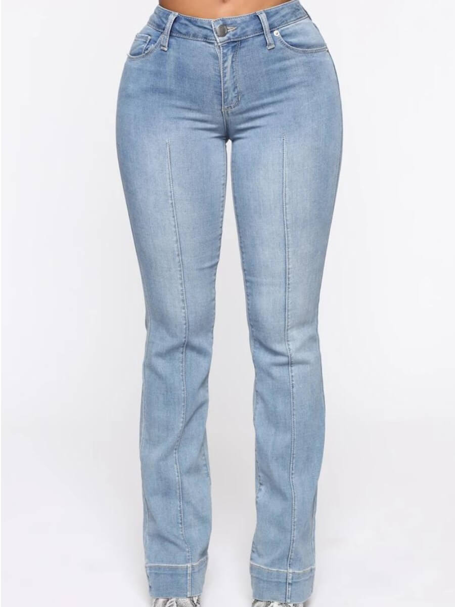 Lovely Street Patchwork Skyblue Jeans