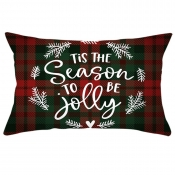 Lovely Chic Print Red Decorative Pillow Case