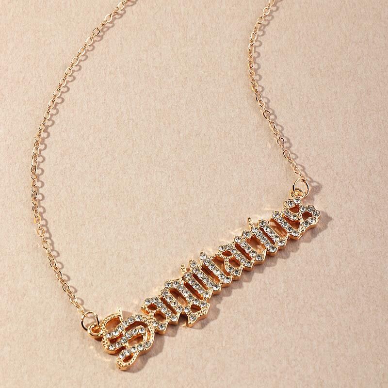 Lovely Stylish Letter Gold Necklace